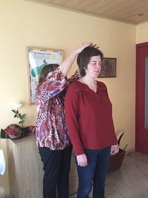 chumpi stone healing wordt afgesloten met een zegening